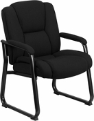 PCB-2138, 500lbs capacity Guest Chair, Black Fabric or Leather